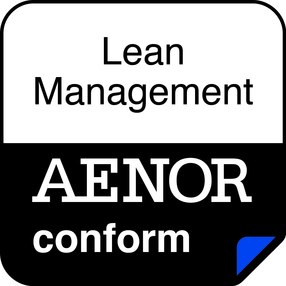 Certificado AENOR de Lean management.